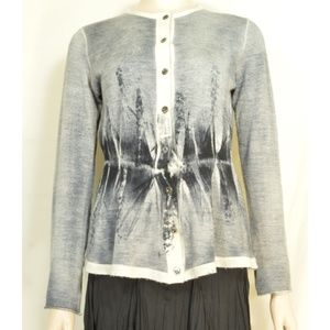 Piazza Sempione sweater SM cardigan gray abstract